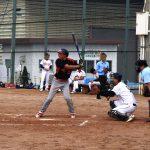 2塁打を打つ太田選手