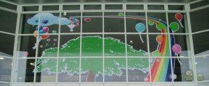 ガラス装飾(インクジェットプリント)