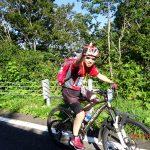 さあ、バイク後半スタートです。 鉾立駐車場へ向けてガンバ!